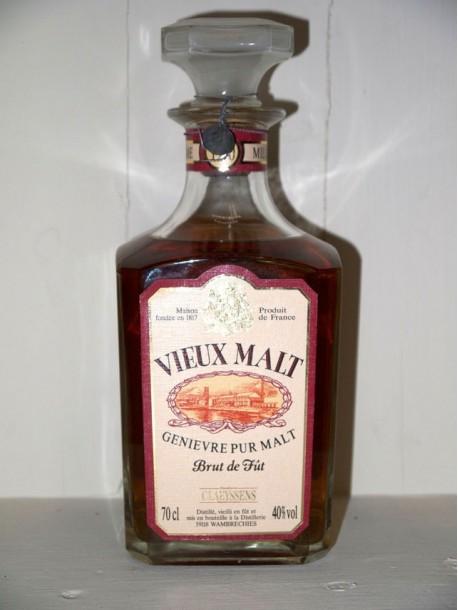 Vieux malt 1990 Genièvre pur malt brut de fût Distillerie Clayssens