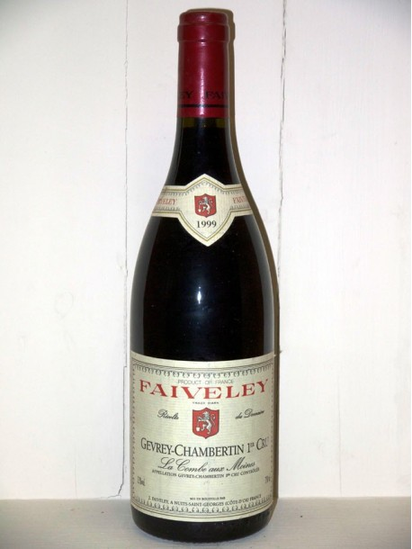 "Gevrey-Chambertin 1er cru 1999 ""La combe aux moines"" Domaine Faiveley"