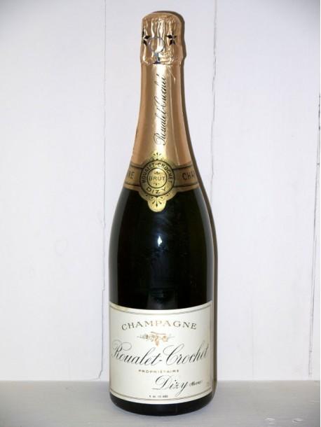 Champagne Roualet-Crochet brut présumé des années 1960