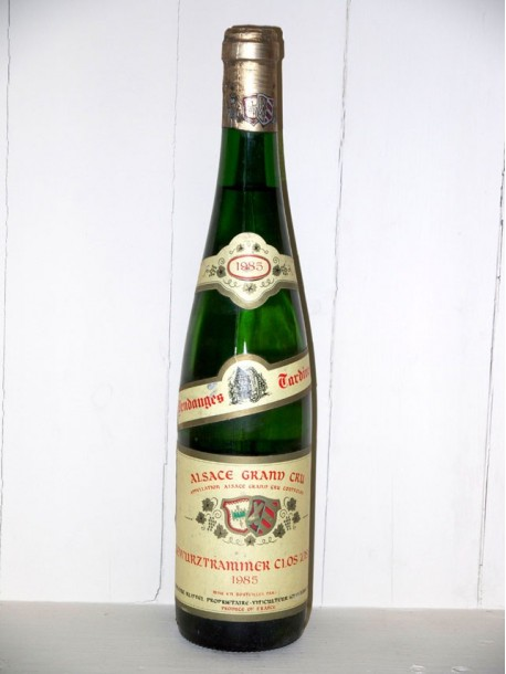 Gewurtraminer Clos zisser vendanges tardives 1985 Domaine Klipfel