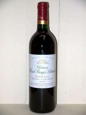 Grands crus Margaux Château Haut Bâges Libéral 2000