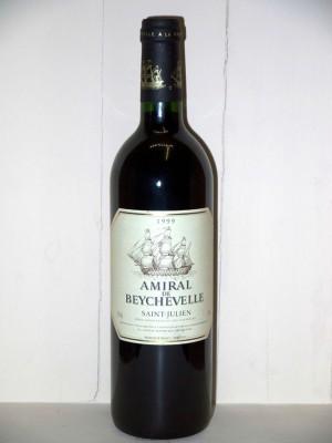 Grands vins Saint-Julien Château Beychevelle Amiral de Beychevelle 1999