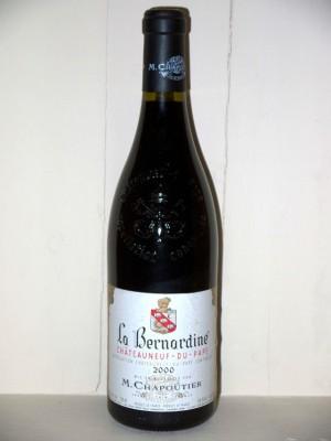 La Bernardine 2000 Chateauneuf du Pape Domaine Chapoutier