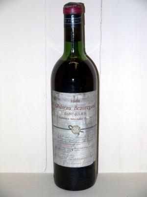 Grands vins Saint-Émilion Château Beauregard 1966