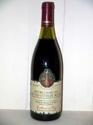 Hautes Côtes de Beaune 1992 Confrérie des Chevaliers du Tastevin Guillaume de Vergy