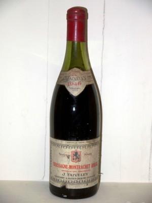 Chassagne Montrachet rouge 1949 Domaine Faiveley