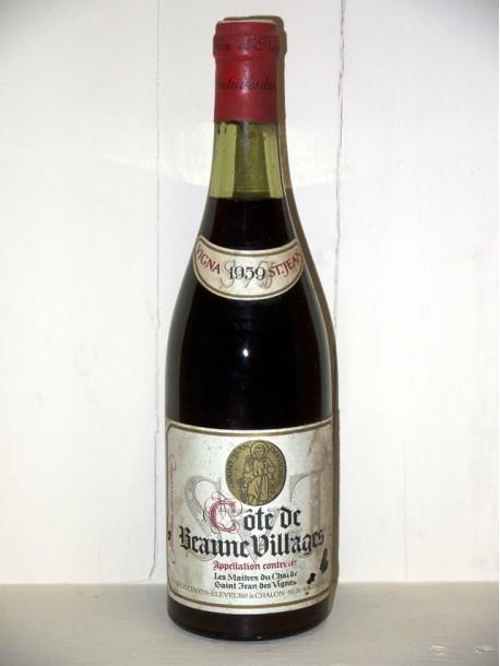 Côte de Beaune villages 1959 Les Maîtres du Chai de Saint Jean les Vignes