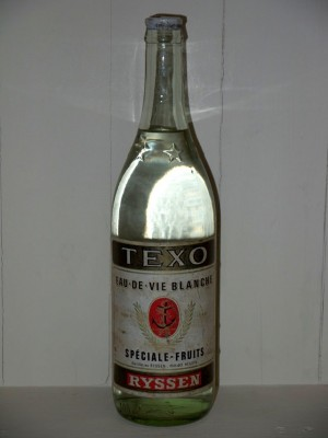 Grand Spiritueux Texo eau-de-vie Blanche spéciale-fruits Distillerie Ryssen présumé années 1950/1960