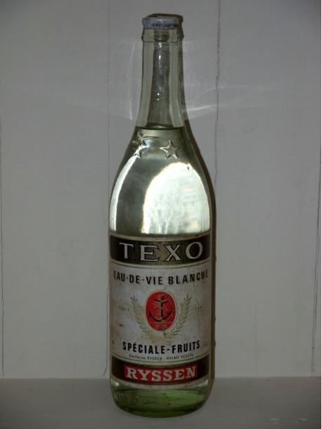 Texo eau-de-vie Blanche spéciale-fruits Distillerie Ryssen présumé années 1950/1960