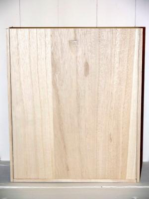 Coffret en bois neutre de 3 bouteilles (75cl)