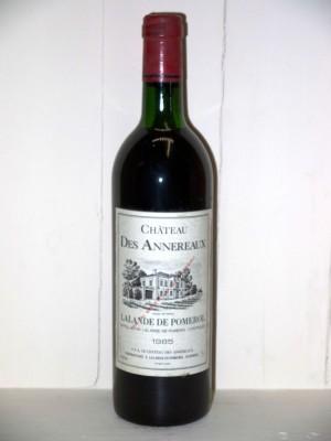 Grands vins Saint-Émilion Château des Anneraux 1985