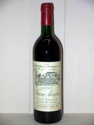 Grands vins Saint-Émilion Château Franc-Mayne 1985