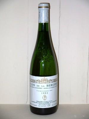 Grands crus Loire Clos de la bergerie 1992