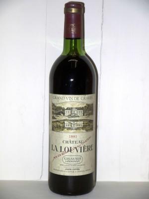Grands vins Pessac-Léognan - Graves Château La Louvière 1981