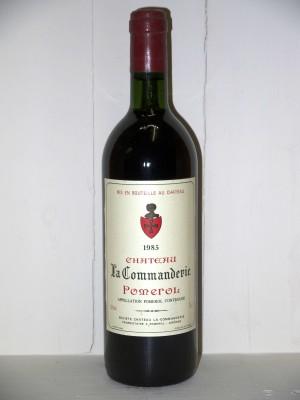 Grands crus Pomerol - Lalande de Pomerol Château La Commanderie 1985