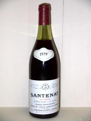 """Santenay """"La Comme"""" 1979 Domaine Lequin-Roussot"""