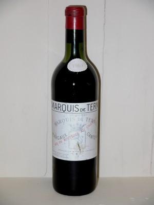 Grands vins Saint-Émilion Château Marquis de Terme 1964