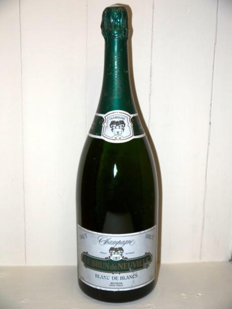 Magnum Champagne Blanc de Blancs le brun de Neuville présumé année 70/80