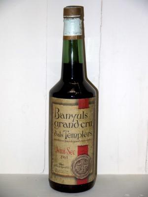 Vins grands crus Languedoc-Roussillon Banyuls Grand Cru 1963 D'Als Templers Demi-Sec