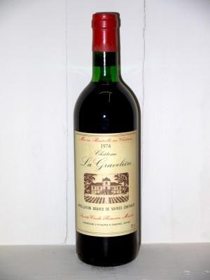 Grands crus Autres appellations de Bordeaux Château La Gravelière 1974