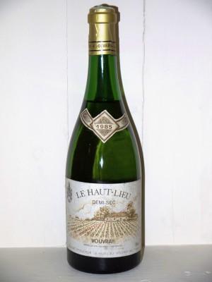 Millesime prestige Loire Le Haut-Lieu 1985 Demi-Sec Domaine Huet