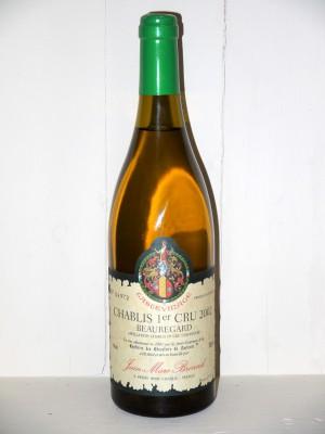 Vins anciens Chablis Chablis 1er Cru 2002 Beauregard Domaine Brocard