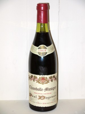 Vins grands crus Chambolle-Musigny Chambolle-Musigny 1969 Paul Dugenais
