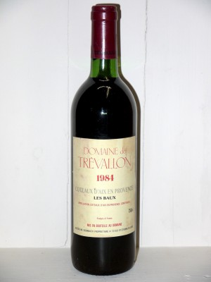 Grands crus Provence Domaine de Trévallon 1984