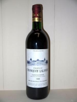 Grands vins Saint-Émilion Château Tronquoy-Lalande 1990