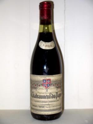 Vins anciens Châteauneuf du Pape Chateauneuf du Pape 1966 Renversez et Bernard
