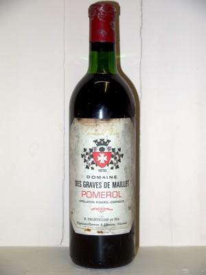 Millesime prestige Pomerol - Lalande de Pomerol Domaine des Graves de Maillet 1970