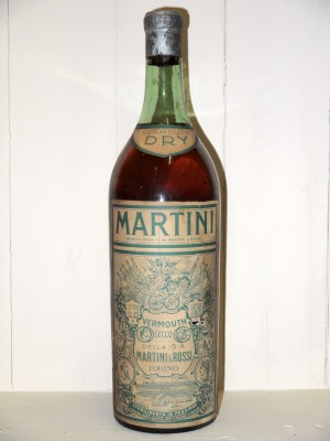 Vermouth millesime Vermouth Dry Martini Années 1950