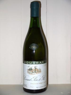 Vins de collection Loire Vouvray Sec 1976 Renaud Père et fils