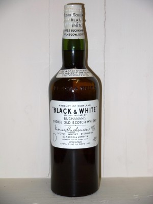 Whisky Black & White Années 50 James Buchanan & Co