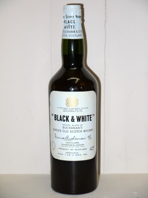 Whisky ancien Whisky Black & White Années 60 James Buchanan & Co