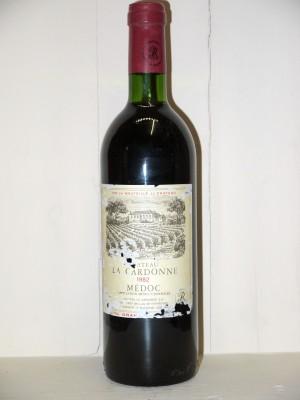 Vins grands crus Médoc Château La Cardonne 1982