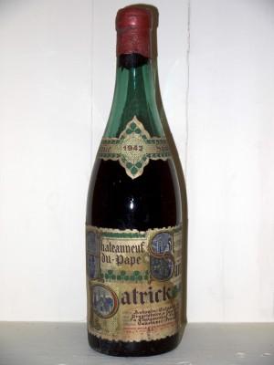 Chateauneuf Du Pape 1942 Saint Patrick Antonin Establet