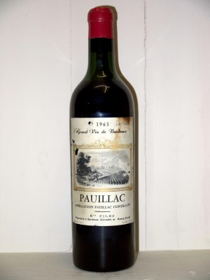 Pauillac 1963 négoce Filey
