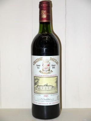 Vins anciens Margaux Château Dauzac 1985