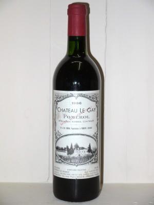 Vins grands crus Pomerol - Lalande de Pomerol Château Le Gay 1986