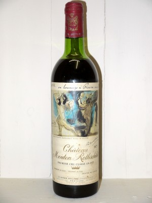 Millesime prestige Pauillac Château Mouton Rothschild 1973