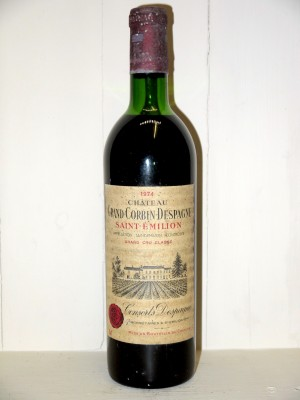 Grands crus Bordeaux Château Grand Corbin Despagne 1974