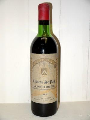 Vins anciens Pomerol - Lalande de Pomerol Château Saint-Paul 1967
