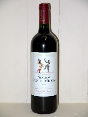 Vins anciens Pauillac Château Clerc Milon 2004