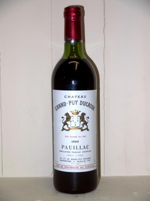 Vins grands crus Pauillac Château Grand Puy Ducasse 1982