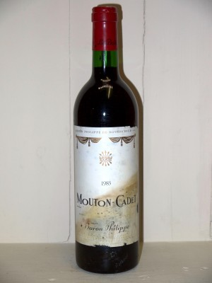 Grands vins Autres appellations de Bordeaux Mouton Cadet 1983