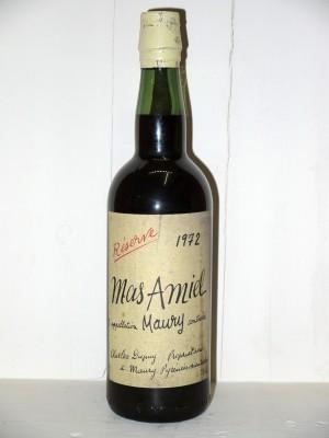 Vins grands crus Languedoc-Roussillon Mas Amiel 1972 Réserve