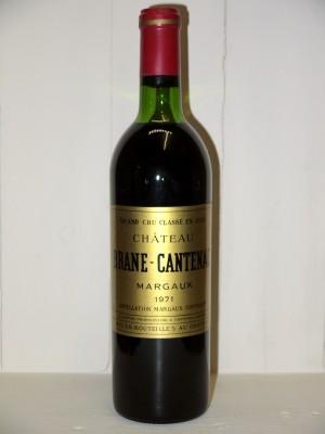 Grands vins Margaux Château Brane-Cantenac 1971