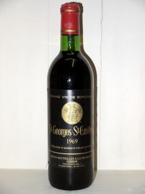 Grands vins Saint-Émilion Saint-Georges-Saint-Emilion 1969