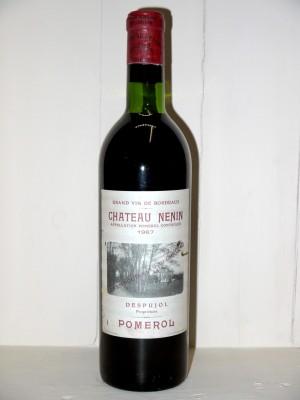 Grands vins Pomerol - Lalande de Pomerol Château Nenin 1967